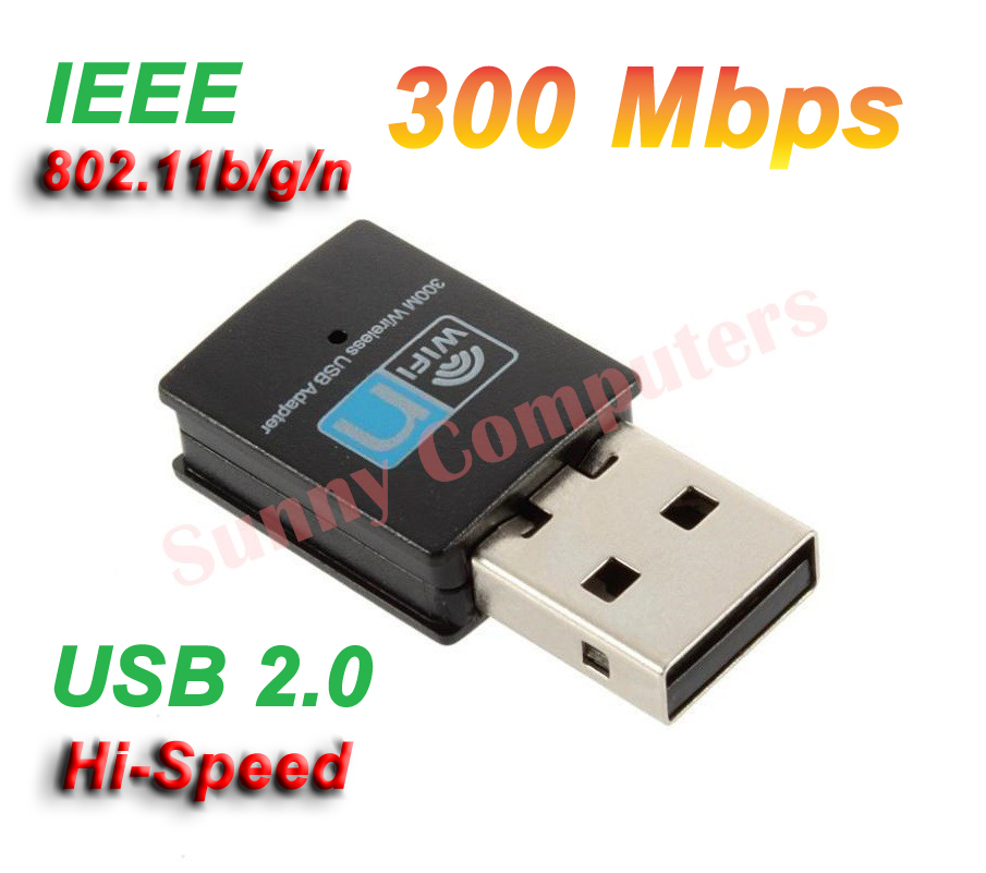 mini wireless network card wifi internet adapter usb dongle 300mbps ebay. Black Bedroom Furniture Sets. Home Design Ideas
