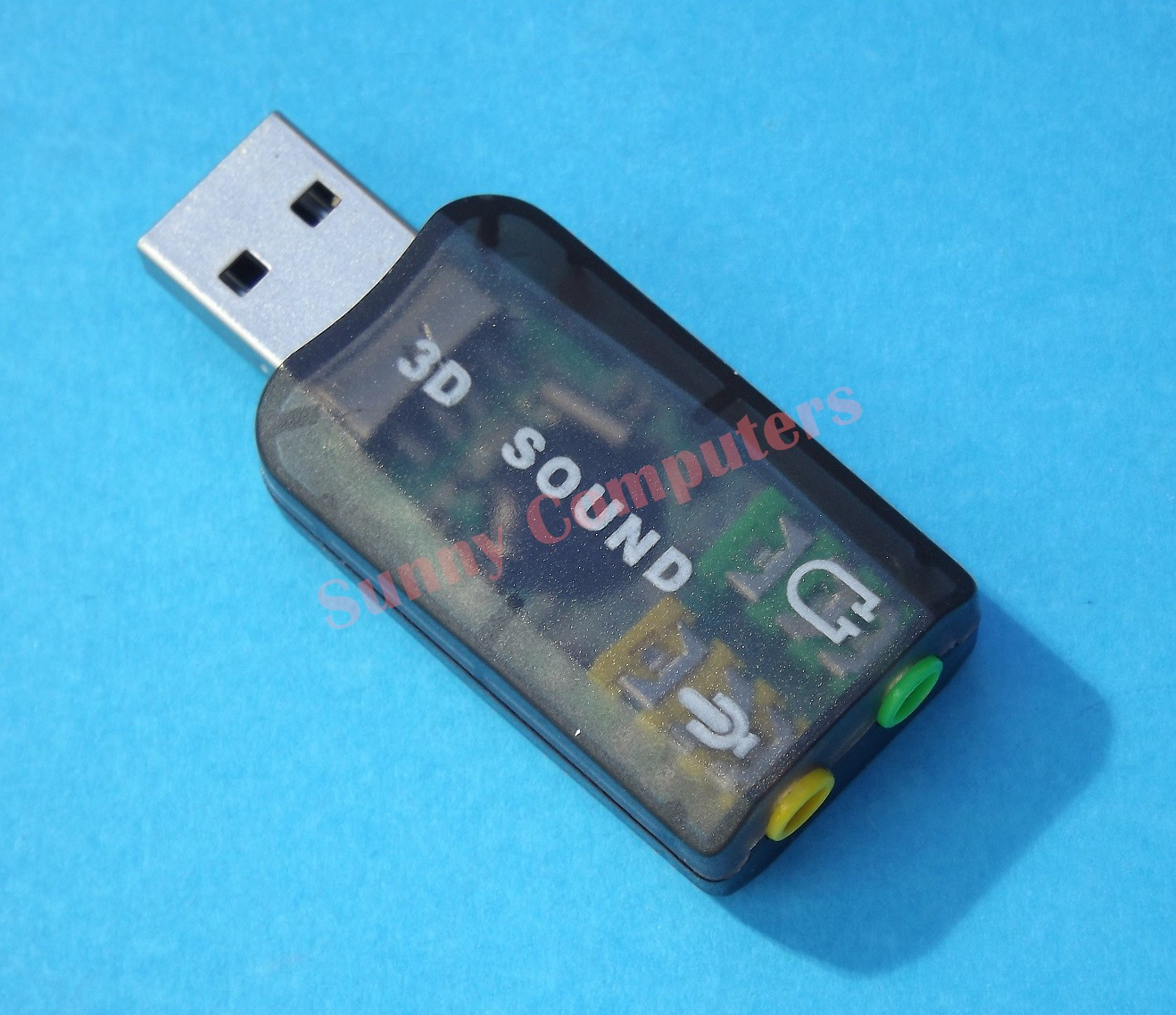 USB 2.0 To 3D Audio Sound Card External Adapter Virtual 5