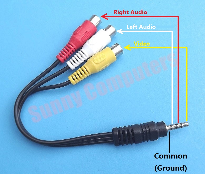 3 5mm To Red Yellow White 3rca Female Socket Audio Video
