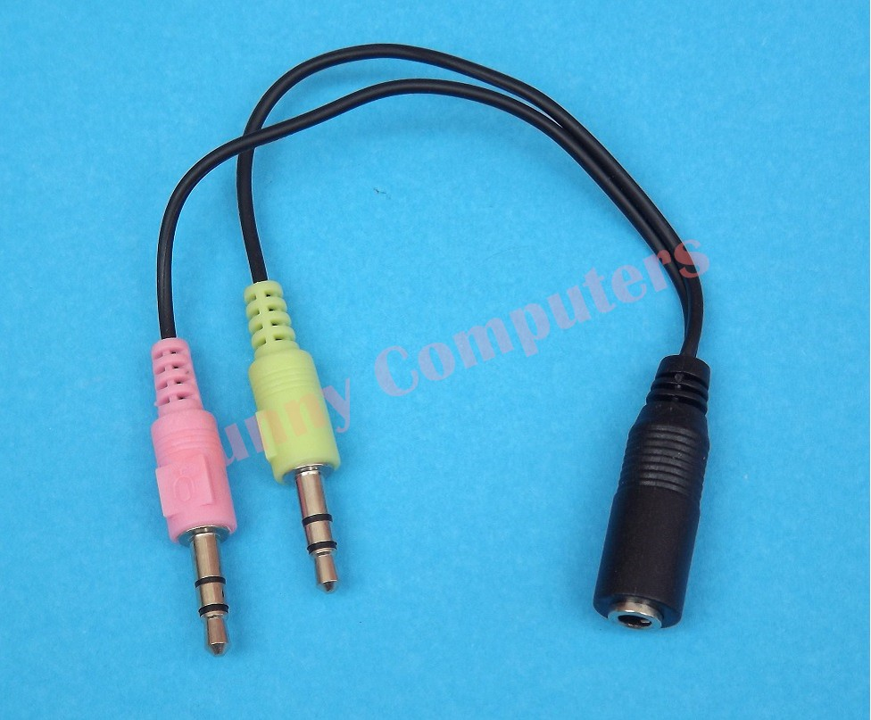 PC Computer Laptop Audio Mic To Apple Earphone Headset